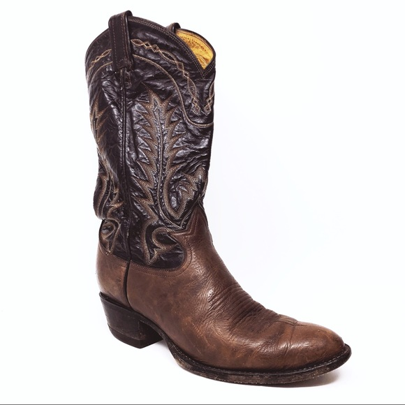 9faad9740f4 Vintage Men's 8D Tony Lama Leather Cowboy Boots